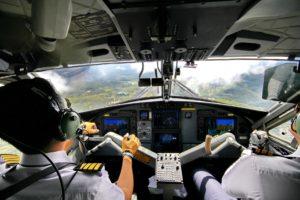 mandos de avión